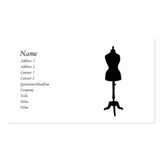 Silueta II de la forma del vestido Tarjetas De Visita