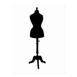 Silueta II de la forma del vestido Tarjeta Postal