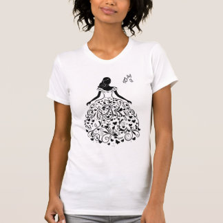 Silueta imaginaria del vestido de Cenicienta T-shirts