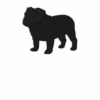 Silueta inglesa del dogo con el texto de encargo sudadera bordada con capucha