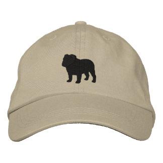 Silueta inglesa del dogo gorras de béisbol bordadas