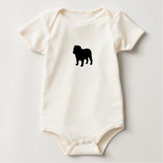 Silueta inglesa del dogo mamelucos de bebé