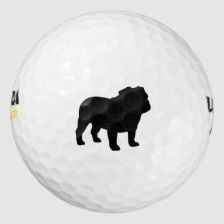 Silueta inglesa del dogo pack de pelotas de golf
