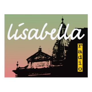 silueta italiana en colores pastel fresca de la ci tarjetas postales