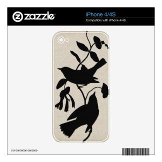 Silueta IV de Audubon Calcomanías Para iPhone 4