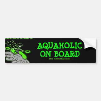 Silueta Kayaking de Whitewater Etiqueta De Parachoque
