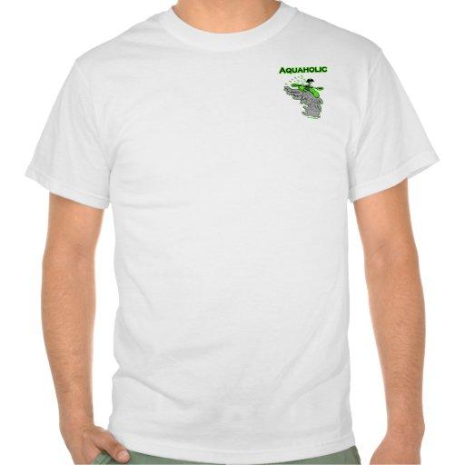 Silueta Kayaking de Whitewater Camiseta