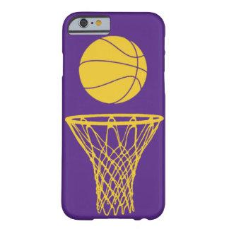 silueta Lakers del baloncesto del caso del iPhone Funda De iPhone 6 Slim