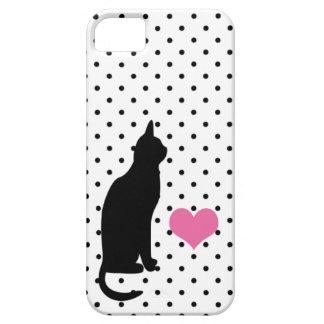 Silueta linda del gato negro - caso del iPhone 5 Funda Para iPhone 5 Barely There
