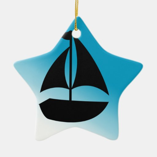 Silueta linda del velero ornamentos para reyes magos