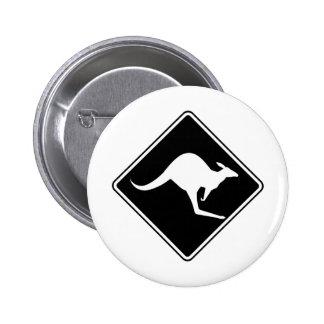 Silueta marsupial de Roo del canguro australiano s Pin