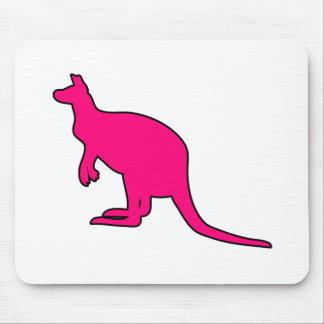 Silueta marsupial de Roo del canguro australiano s Alfombrilla De Raton