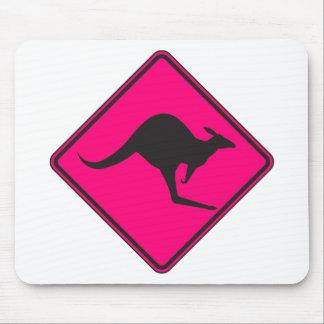 Silueta marsupial de Roo del canguro australiano s Tapetes De Raton