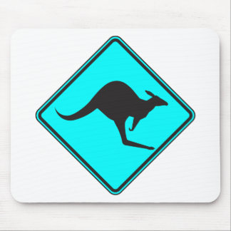 Silueta marsupial de Roo del canguro australiano s Tapete De Ratones