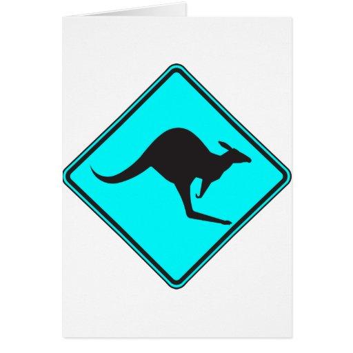 Silueta marsupial de Roo del canguro australiano s Felicitaciones