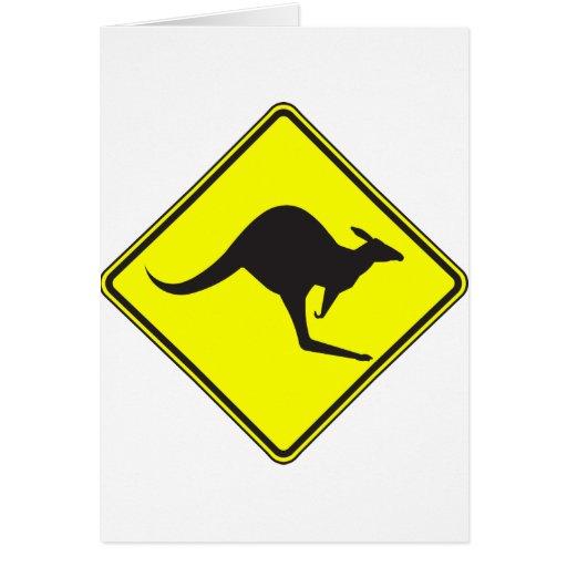 Silueta marsupial de Roo del canguro australiano s Tarjeta De Felicitación