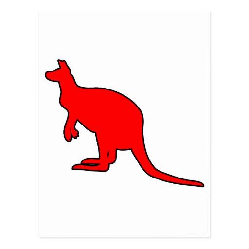 Silueta marsupial de Roo del canguro australiano s Postales