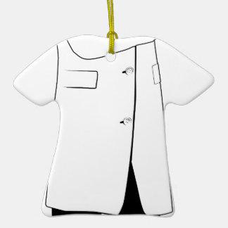 Silueta masculina del doctor adorno de cerámica en forma de camiseta