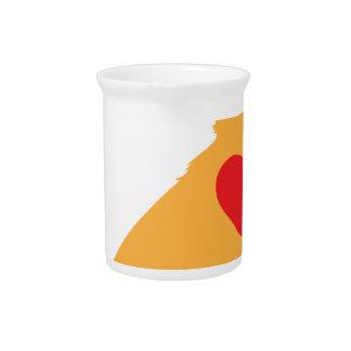 Silueta mezclada de la raza jarra para bebida