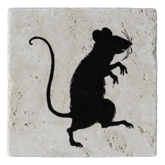 Silueta misteriosa de la rata del ratón de la salvamanteles
