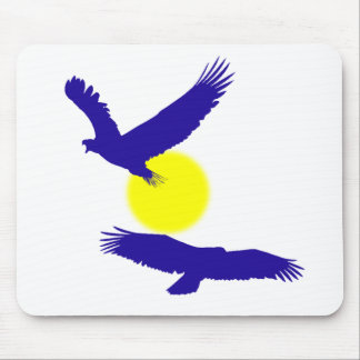 Silueta Mousepad de Eagle calvo