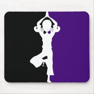 Silueta Mousepad de la yoga Alfombrilla De Ratones