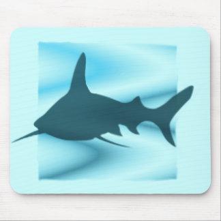Silueta Mousepad del tiburón Alfombrillas De Raton