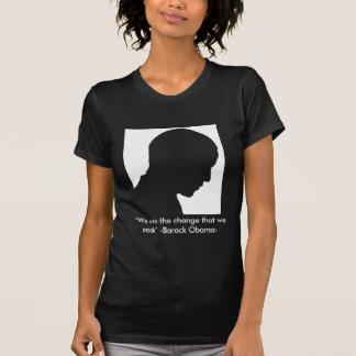 Silueta negra de Obama Camiseta