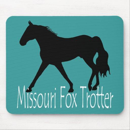 Silueta negra del caballo que trota del Fox de Mis Alfombrillas De Ratón