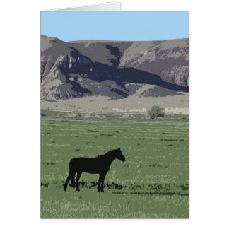 Silueta negra del caballo WY Tarjeton