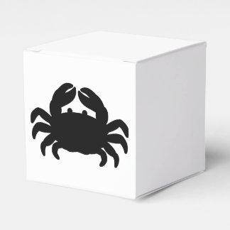 Silueta negra del cangrejo cajas para regalos de boda