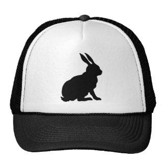 Silueta negra del conejo gorro de camionero