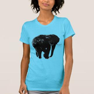 Silueta negra del elefante camiseta