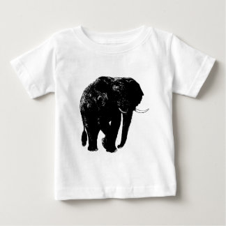 Silueta negra del elefante t shirts