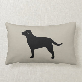 Silueta negra del labrador retriever almohada