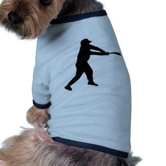 Silueta negra del talud del béisbol camisetas de perrito