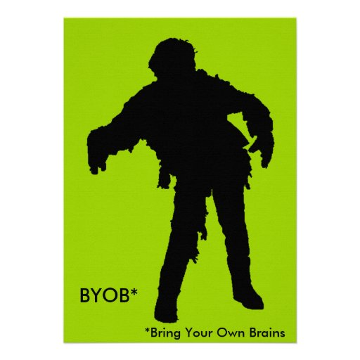 Silueta negra del zombi comunicado personal