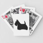 Silueta negra hermosa del perro de Terrier del esc Barajas De Cartas