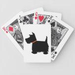 Silueta negra hermosa del perro de Terrier del esc Barajas