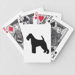 Silueta negra hermosa del perro de Terrier galés Baraja De Cartas