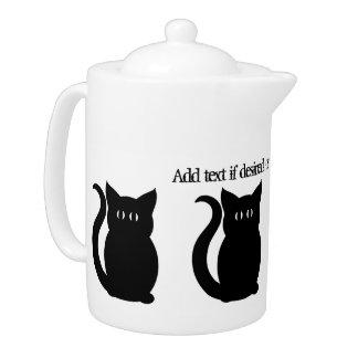 Silueta negra linda del gatito