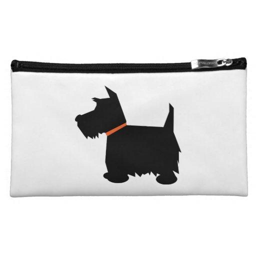 Silueta negra linda del perro de Terrier del escoc