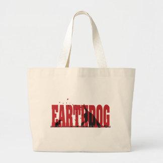 Silueta negra/roja de Earthdog Bolsas De Mano