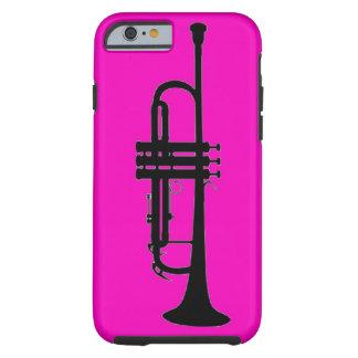 Silueta negra rosada de la trompeta