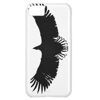 Silueta negra y blanca de Eagle Funda Para iPhone 5C
