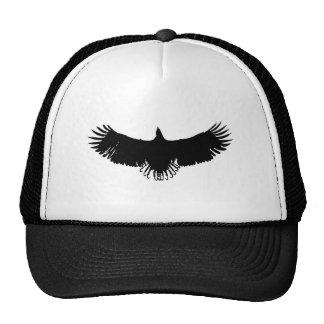 Silueta negra y blanca de Eagle Gorro