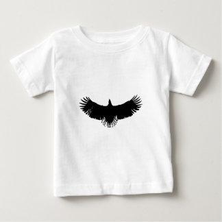 Silueta negra y blanca de Eagle Camiseta