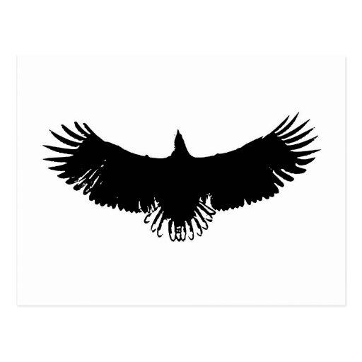 Silueta negra y blanca de Eagle Postal