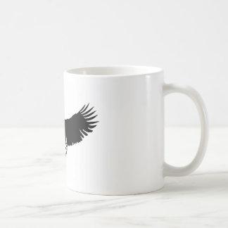 Silueta negra y blanca de Eagle Taza De Café