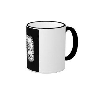 Silueta negra y blanca de la mariposa del árbol taza de dos colores